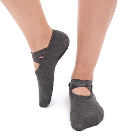 Leyeet 1 Par / 3 Pares Mujer Calcetines de Yoga Antideslizante Gimnasio Fitness Pilates Ballet Danza Deportes Calcetines Antideslizantes (Color : ...