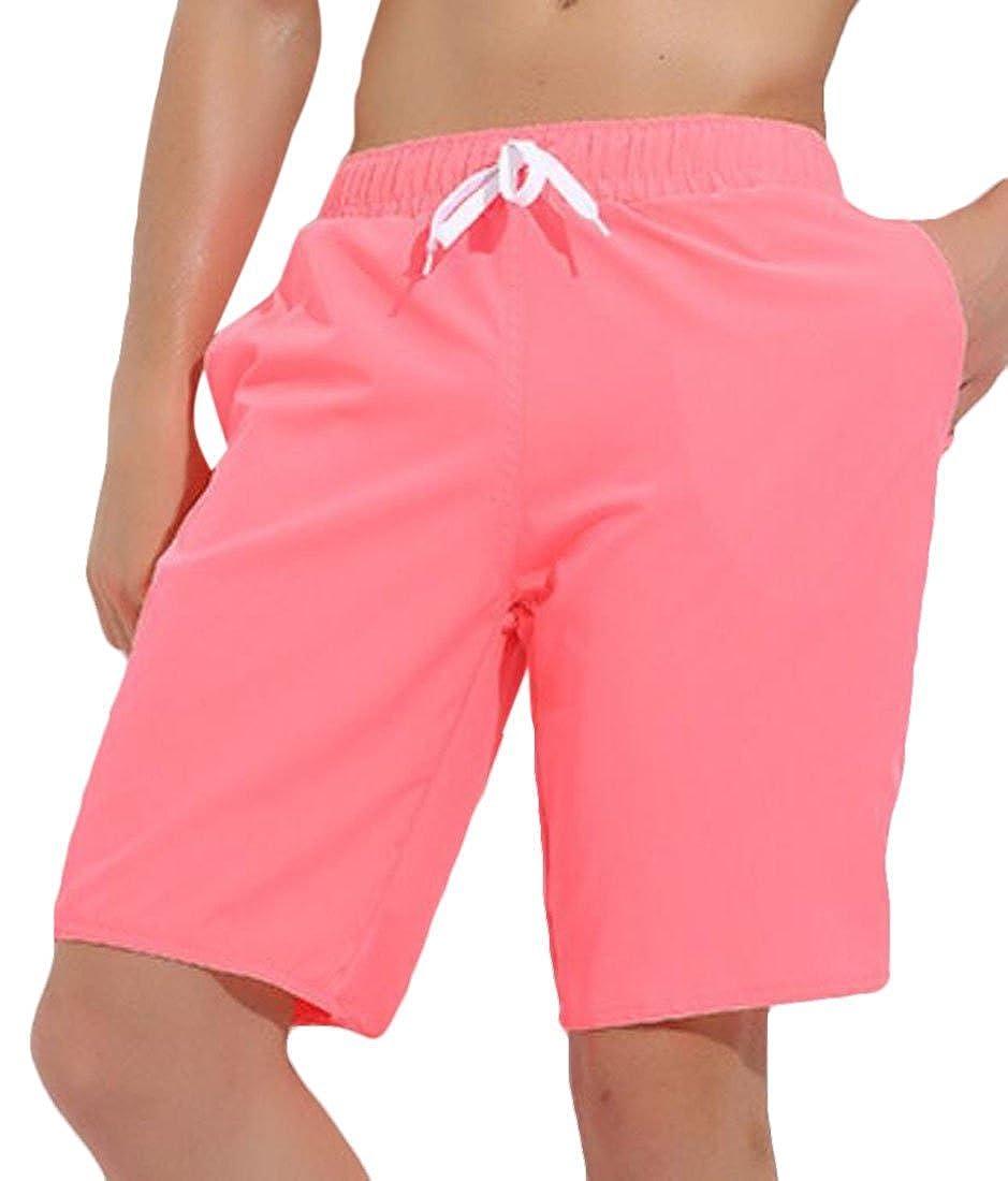 Nanquan Men Solid Color Plus Size Athletic Summer Short Beach Joggers Pants