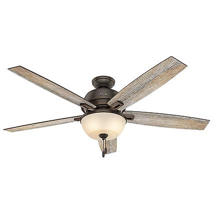 Hunter 54170 60u0026quot; Donegan Onyx Bengal Ceiling Fan With Light