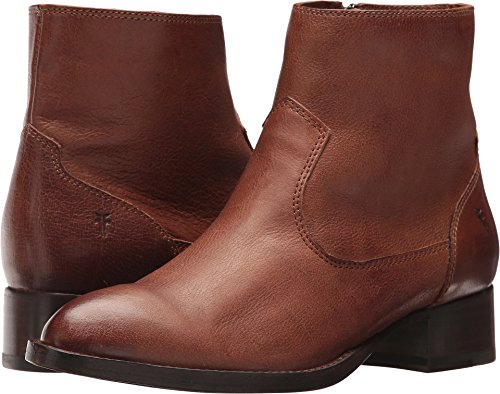 FRYE Women's Brooke Short Inside Zip Ankle Bootie Cognac 9 M US