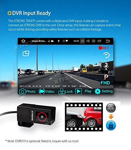 XTRONS 6.95 Inch Android 8.0 Octa Core 4G RAM 32G ROM HD Digital Multi-touch Screen Car Stereo DVD GPS Radio OBD2 Wifi DVR TPMS Double 2 Din by XTRONS (Image #6)