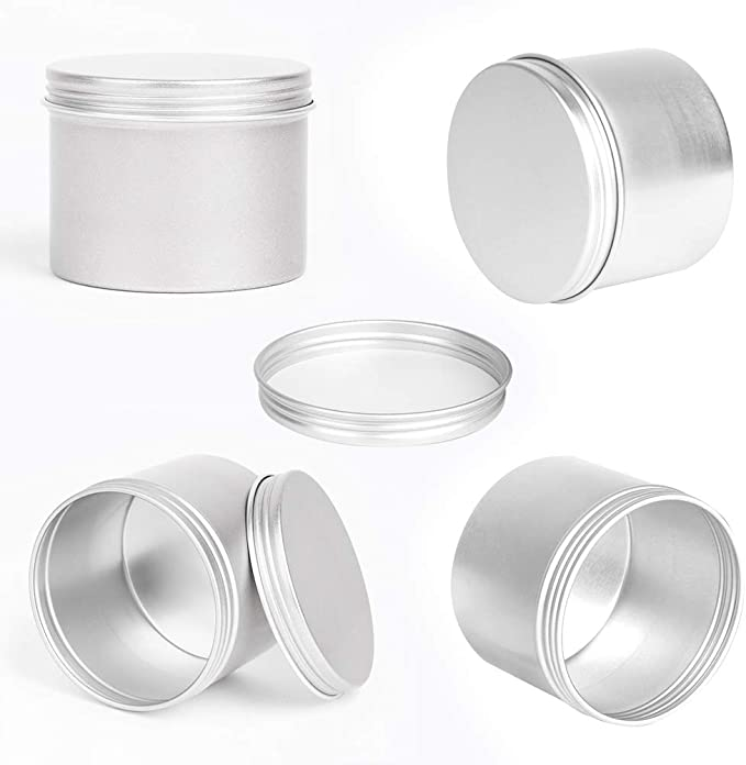 12 Pcs Christmas Candle Tin Jars 8 Oz Empty Round Candle Making Tin Cans with Lids Reusable Xmas Style Metal Storage Container Case Kit for Christmas Candle DIY Arts and Crafts Storage /& Decor