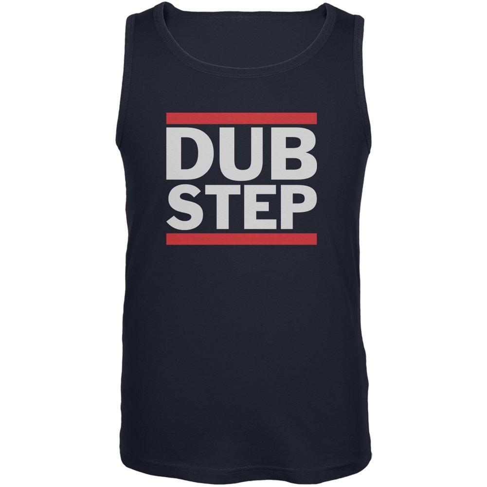 Dub Step Navy Adult Tank Top