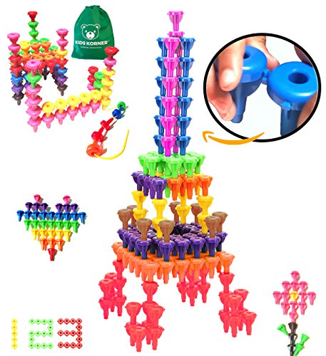 Reading Together Pack (Peg Lacing & Building Toys for Kids | Snap To Lock Stacking Montessori Engineering Fine Motor Skills Educational Toys for 3 4 5 6 7 Year Old Boy and Girl | 64 pc with Travel Backpack)