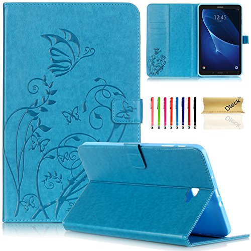 Tab A 10.1 Case, Samsung T580 Case Cover, Dteck Slim Fit PU Leather Folio Stand Smart Case with Auto Wake/Sleep Function for Samsung Galaxy Tab A 10.1 inch Tablet SM-T580/585/T587, Blue