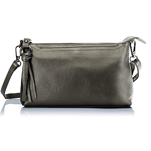 Lecxci Womens Leather Smartphone Crossbody