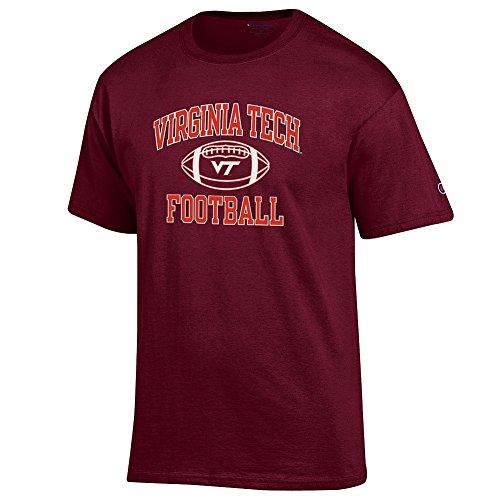- Elite Fan Shop NCAA Men's Virginia Tech Hokies Team Color Football T-shirt Virginia Tech Hokies Maroon X Large