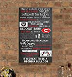University of Georgia/UGA/Athens, Georgia Subway Art Canvas Print- can customize