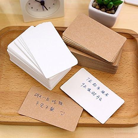 Toyfun 100 Pcs Papier Message Carte Cartes De Visite Word Vierge DIY Cadeau
