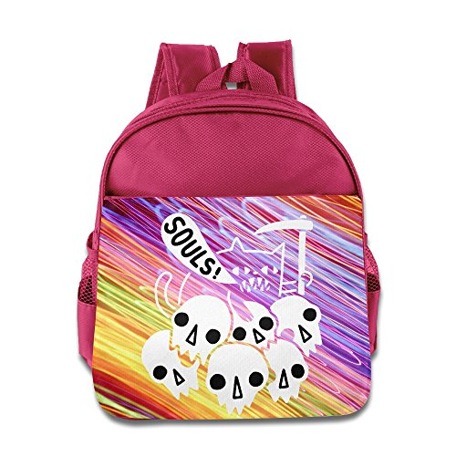 Souls Devil Halloween Children Cute Boys Girls School Bag Pink ()