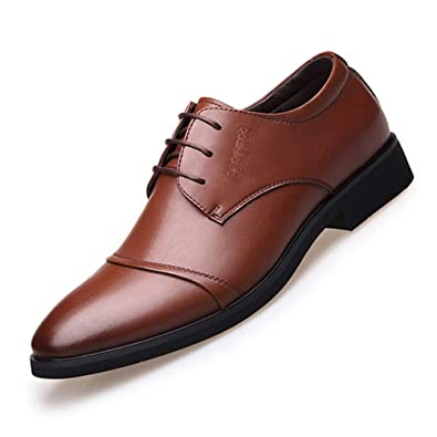 Zapatos de Cuero para Hombres Traje de Trabajo Zapatos de ...