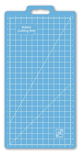 Gridded Rotary Mat (June Tailor 13-Inch-by-25-Inch Gridded with 11-Inch-by-23-Inch Grid Rotary Mat With Handle)