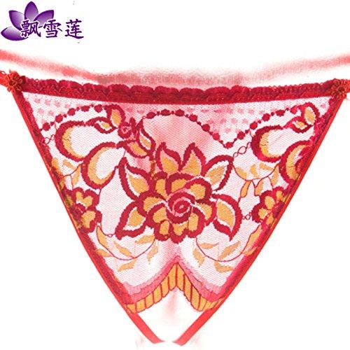 RRRRZ*sous-vêtements sexy string dentelle brut terrasse au lieu d'être pleinement transparent sous-vêtements pantalons T tentation de Nassau