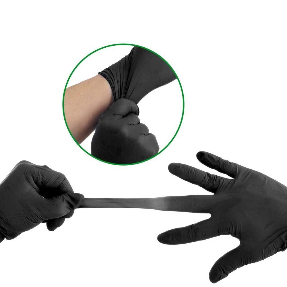 automotrices paquete de100-Blue/_L de limpieza o tatuajes Guantes de l/átex desechables con agarre texturizado sin polvo para aplicaciones mec/ánicas