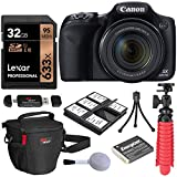 Canon PowerShot SX530 HS Camera with Lexar 32GB Memory Card, Flexi-Tripod, Camera Bag, Memory Card Reader/Writer, and Spare Battery