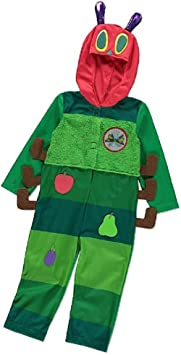 The Very Hungry Caterpillar Kids Fancy Dress World Book Day Bug Childs Costume
