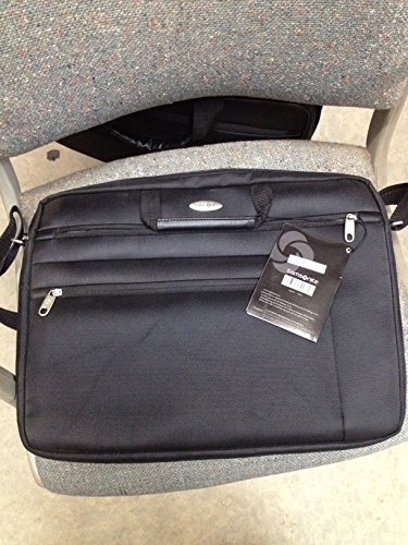 "Heritage Travelware Vinyl Single Compartment 17.3"" Laptop Case with Secure Combination Lock Briefcase, Black, One Size"