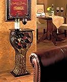 Contemporary Wine Storage Table 8 Bottle Wine Rack Storage Cork Storage Holder Metal Home Decor