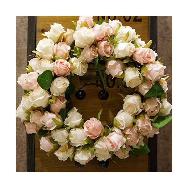 SogYupk Decorative Seasonal Front Door Wreath Handcrafted Wreath for Outdoor Display in Fall, Winter, Spring, and Summer