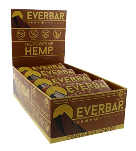 EverBar Protein Bar – Cinnamon Ginger – 16 Bars – ONLY 9 Ingredients – 12g of Protein – Clean Energy Meal Replacement – Gluten-Free, Non-GMO, Dairy Free, Soy Free – Hemp Protein