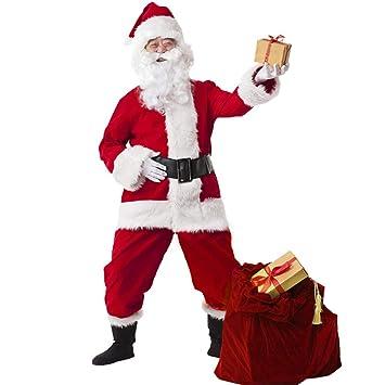 LLVV Disfraces de Navidad Papá Noel para Adultos Ropa de Navidad ...