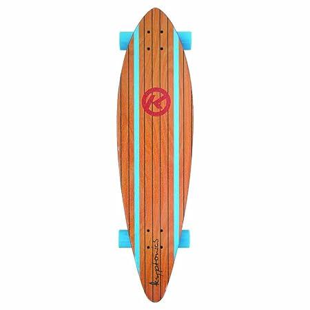 Kryptonics Surf City Pintail Longboard Complete Skateboard, 37 x 9.5-Inch