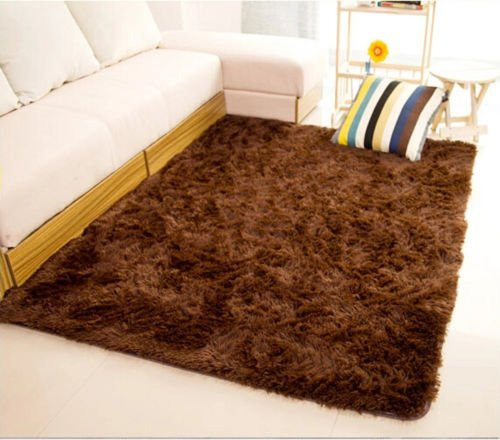 MAZIMARK--Fluffy Rugs Anti-Skid Shaggy Area Rug Dining Room Home Bedroom Carpet Floor Mat by MAZIMARK