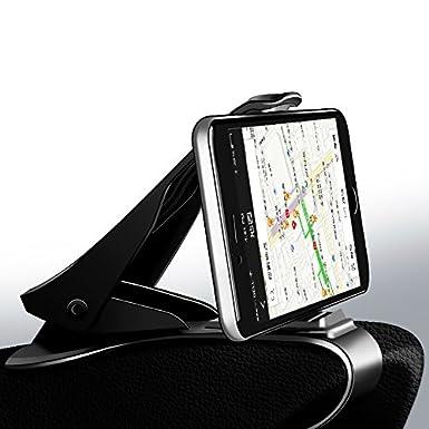 Soporte universal para teléfono móvil de coche con clip ajustable, suave, antideslizante, soporte para teléfono móvil GPS para iPhone, Samsung Xiaomi: ...