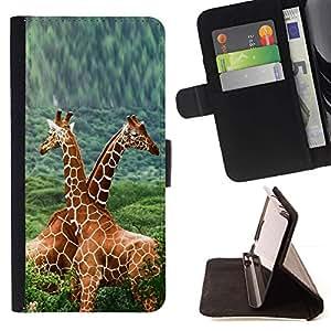 Momo Phone Case / Flip Funda de Cuero Case Cover - Doble Jirafas;;;;;;;; - LG G4
