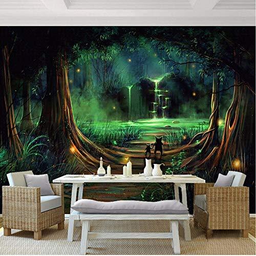 MRQXDP Photo Wallpaper Abstract Forest Waterfall Animal Children