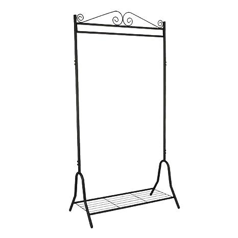 LIMAL Perchero Metal Negro 46 x 90 x 172 cm, Estructura de ...
