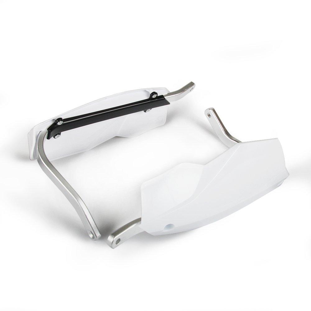 Moto Aluminium 7//8prot/ège-Mains pour Honda Yamaha Kawasaki Suzuki KTM Moto v/élo de Fosse v/élo Blanc