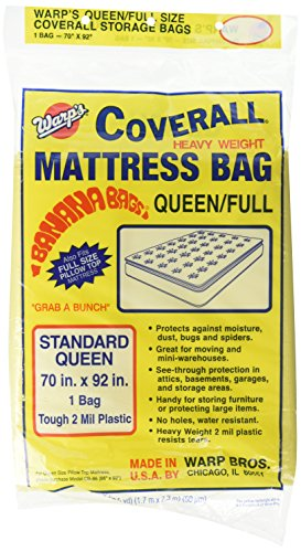 (Warp Brothers CB-70 Banana Bags Mattress Bag for Queen or Full, 70-Inch by 92-Inch)