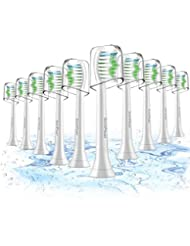 Toothbrush Heads, 10 Pack Sonicare Replacement Brush Heads For Philips Sonicare DiamondClean,FlexCare,HealthyWhite, EasyClean, Essence+