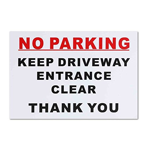 Exterior Accessories - Parking Signs Metal Sign Ctomer Block Driveway Driveways Visitor Private - 297x210mm No Parking Sticker Keep Driveway Entrance Clear Park Car Warning Sign - - 1PCs