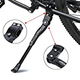 ANWONE Bicycle Kickstand, Adjustable Aluminum Alloy MTB Bike Stand With Anti-slip Rubber Foot, Universal Alloy Kick Stand for Mountain Bike, Road Bike and Folding Bike 22' - 27'(Black)