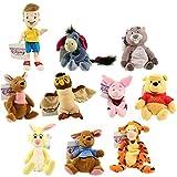 Disney Bean Bag Plush - WINNIE THE POOH SET OF 10 (Pooh, Tigger, Roo, Eeyore, Piglet, Kanga +4)