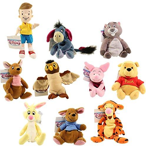 - Disney Bean Bag Plush - WINNIE THE POOH SET OF 10 (Pooh, Tigger, Roo, Eeyore, Piglet, Kanga +4)