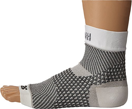 Zensah PF Compression Sleeve (single) – Plantar Fasciitis Sleeve, Relieve Heel Pain, Arch Support, Reduce Swelling – Foot Sleeve, Plantar Fasciitis Sock,S,White