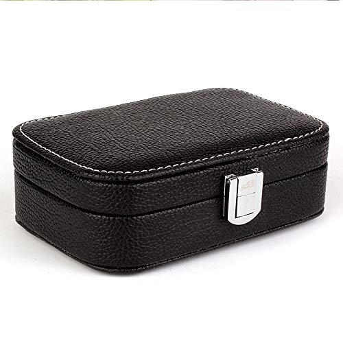 EYX Formula New Fashion Crocodile PU Leather Lockable Jewelry Accessories Box Storage Cases,Portable Travel Case Mini Makeup Case Organizer for Rings,Earrings,Necklace.