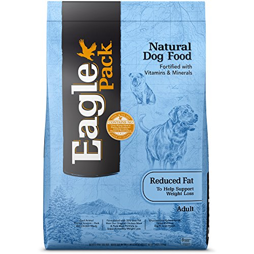 Eagle Pack Natural Dry Reduced Fat Dog Food, Pork, Chicken & Fish, 30-Pound Bag (Eagles Race)