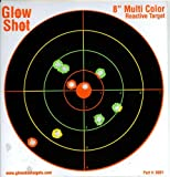 "25 Pack - 8"" Muticolor Tagboard Reactive Splatter Targets - Glowshot - Gun and Rifle Targets"