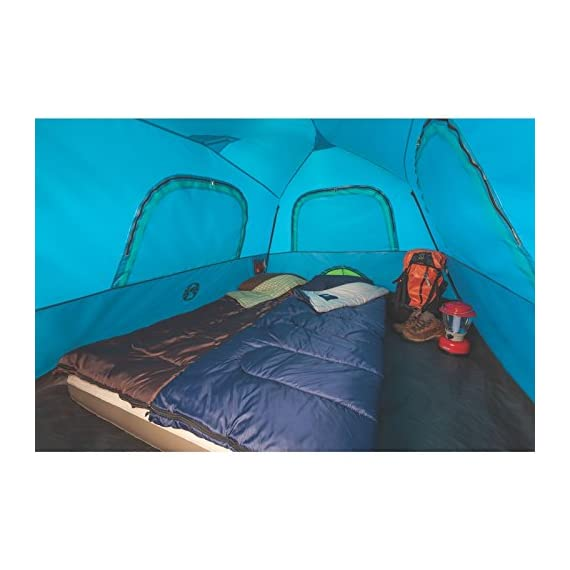 Coleman Camping Instant Signal Mountain Tent 7 Weather Tec system - patented welded floors and Inverted seams help keep water out Instant setup in about 60 seconds. Pre-attached poles for quicker, simpler setup - just extend and secure Integrated rainfly doesn't require separate assembly