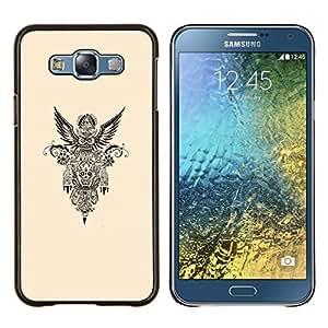 Dragon Case - FOR Samsung Galaxy E7 E7000 - native American freedom biker petrol - Caja protectora de pl??stico duro de la cubierta Dise?¡Ào Slim Fit