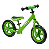 boppi Metal No Pedal BMX Balance Bike 2, 3, 4, 5yrs Green