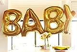 40 Inch Giant Jumbo Helium Foil Mylar Balloons Bouquet (Premium Quality), Matte Gold, Letters LOVE