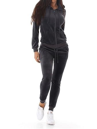 Voyelles Damen Jogginganzug, Ein Freizeitanzug mit Eleganten Details, in Vielen Größen und Farben erhältlich SML