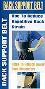 "Back Brace Support Weight Lifting Belt w/ Suspenders ~ Large Size(38""-47"")"