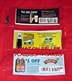 25 Coupon Sleeves Pages for Binders 3 pockets CLEAR