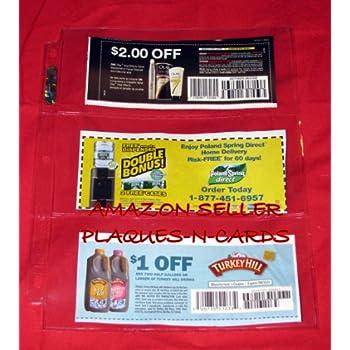 Clear Plastic Coupon Shelf Tab Holder - 1 7/8
